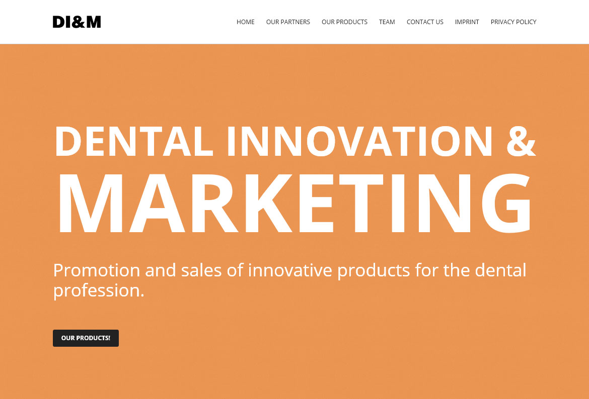 Startseite von Dental Innovation Marketing aus Düsseldorf