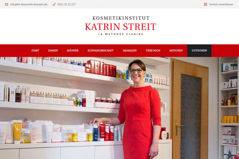 KOSMETIK - Call to Action,Google Map,Stil angepasst an bestehendem Logo,Wordpress