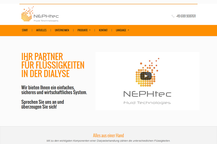 NEPHtec - Wordpress,Relaunch,Mehrsprachig