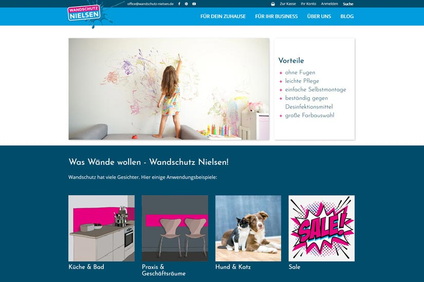 Wandschutz Nielsen - OnlineShop,xt:commerce,Template,Interaktiv,Blog
